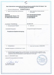 Zertifikat bis 2015